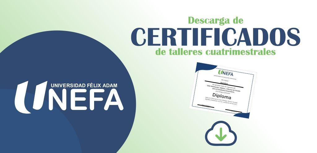 Descarga de certificados de talleres cuatrimestrales