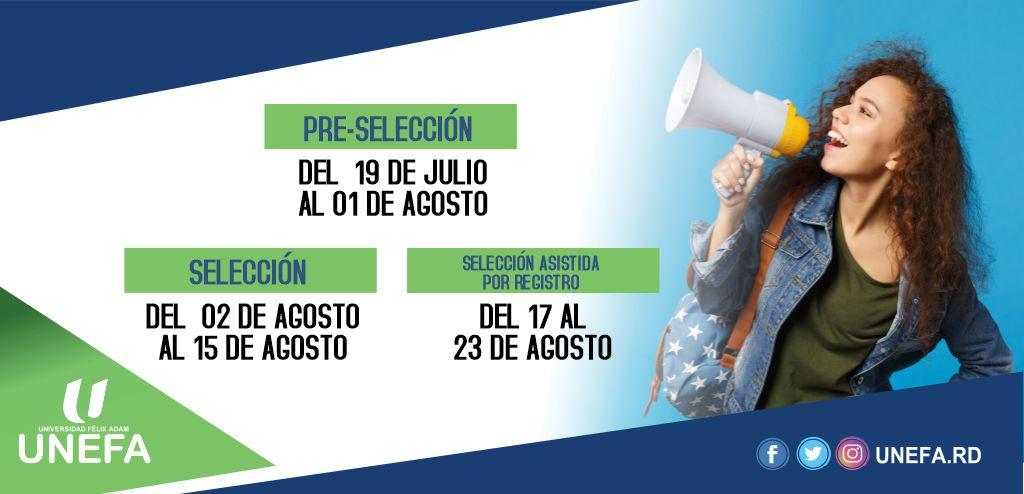 Pre-Selección del 19 de Julio al 01 de Agosto